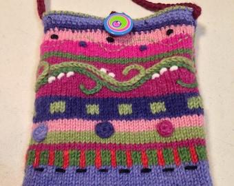 Recycled Sweater Hobo Handbag/Tablet Bag