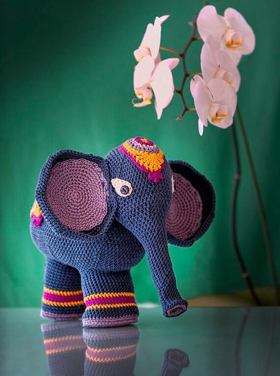 Patrón Elefante Indio amigurumi. Por Caloca Crochet