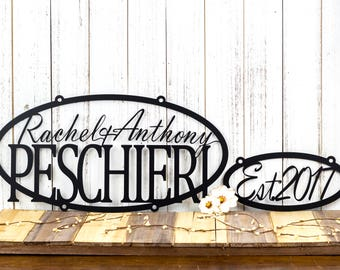 Custom Family Established Sign | Established Sign | Family Name Sign | Custom Metal Sign | Custom Sign | Personalized Sign