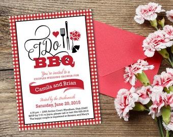 I Do BBQ Couples Shower Invite, Wedding Rehersal Dinner Invitation, Engagement Party, Bridal Shower Picnic Printable Invitation