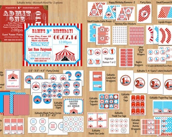 Circus party decorations Birthday party decor carnival party invitations circus party decorations circus party supplies circus invitations
