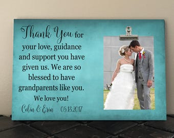 Free Design Proof and Personalization, GRANDPARENTS WEDDING gift from Bride or Groom, THANK You for your Love Guidance and Support, ty01