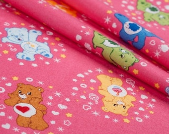 Care Bears cotton fabric by Camelot fabric - 1 m (  100 cm x 112 cm )