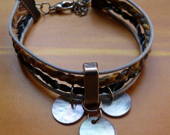Braided bracelet and Pearl coins