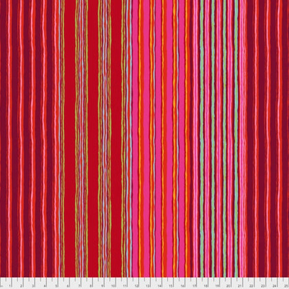 REGIMENTAL STRIPE Red PWGP163.REDXX  Kaffe Fassett Sold in 1/2 yd increments