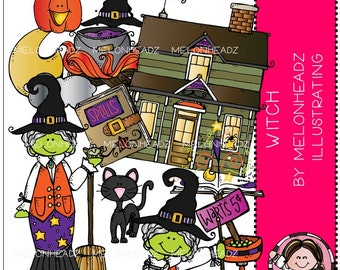 Witch clip art - Combo Pack