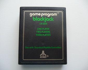 Vintage Blackjack Game For Atari 2600