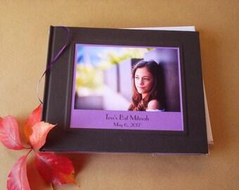 Custom Bat Mitzvah Guest Book · Personalized Bar Mitzvah Guestbook · Gift for Bar Mitzvah · Bar Mitzvah Photo Keepsake · Mitzvah Party Decor