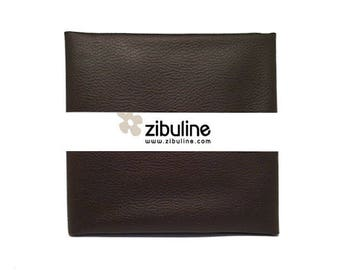 Coupon of faux leather cord - 45 x 50 cm - Walnut stain color