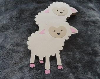 Set of 10 Pink Lambs