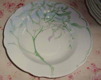 1 plate of Luneville of Edmond Lachenal mistletoe decor