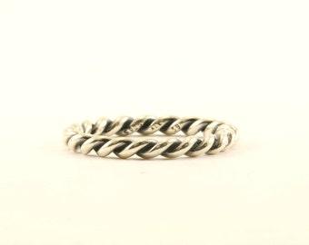 Authentique Pandora Twist torsadé anneau en argent 925 Sterling RG 3241-E