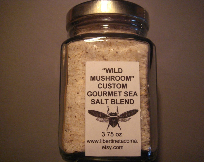 Wild Mushroom Sea Salt Available in A Variety of Sizes