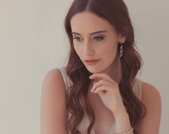 Rose gold filled freshwater pearl wedding bracelet, moonstone bracelet, pearl bracelet, freshwater pearl bracelet, rose gold bracelet