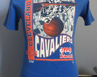 90s Vintage Cleveland Cavaliers Cavs 1992 NBA Playoffs basketball T-Shirt - SMALL