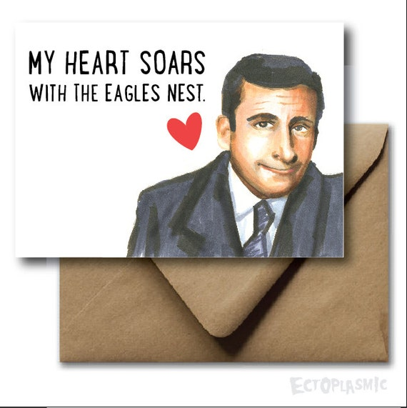 Greeting card valentines day card the office michael m4hsunfo