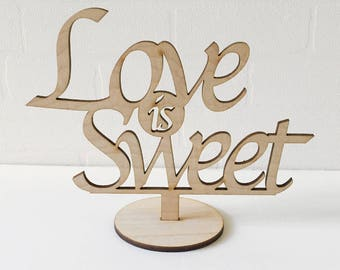 Love is Sweet, Candy Corner, Wedding Deco Signs, Wedding table Sign, Wedding Decorations, Candy Bar
