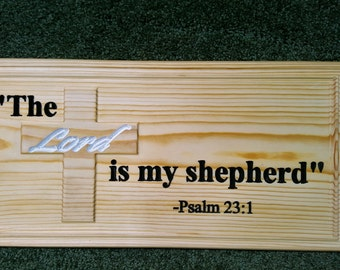 Wood Plaque - Psalm 23:1
