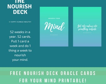 The Nourish Deck - Mind ( self-care oracle cards )