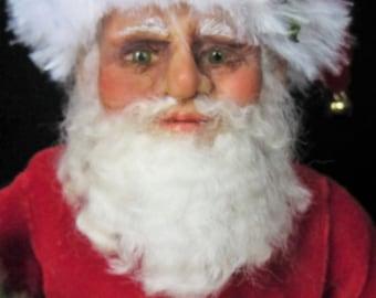 Santa Claus a Classic Original Polymer Clay/Mixed Media Doll