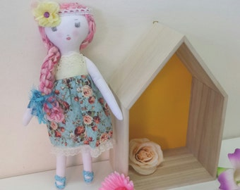 """Sale, Cloth Doll, Fabric Doll, Girl Doll, 17"""" Doll, Rag Doll, Heirloom Dolls, Play Doll, Soft Toy"""