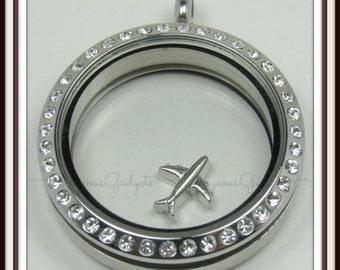 Airplane Floating Charm for Glass Locket / Floating Locket / Memory Locket