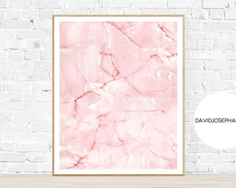 Pink Wall Art, Pink Poster, Marble Print, Marble Wall Art, Pink Marble Poster, Digital Download, Pink Marble Print, Instant Download