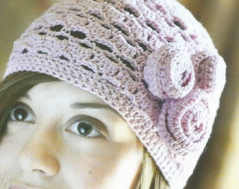 Instant Download - PDF-  A lovely 1920's Style Hat Crochet Pattern (CA30)