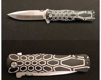 Lasered Pocket Knife, perfect gift for Mom's, Dads, Grooms, Brides or anyone for the holidays. Custom knife