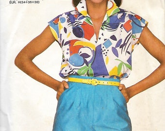 Simplicity Super Saver 7396 Misses Front Tucked Shorts And Pullover Top Pattern, Size 6-10, UNCUT
