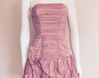 Gunne Sax / Bubble Dress / Jessica McClintock / 90s / Pink Prom Dress / Sweet 16 / Short Prom Dress