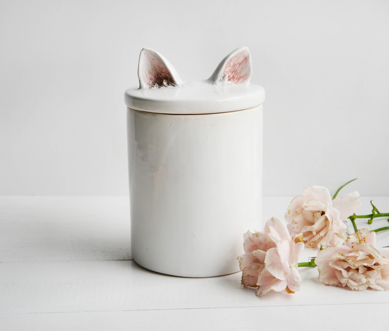Behälter mit Katzenohren weißen Behälter Küche Behälter