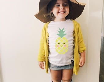 Girls Clothes,Toddler Girls Clothes, Cute Kids Clothing, girls Dresses,Baby girls clothes, gift ideas, graphic tee, fruit, peach, pineapple,