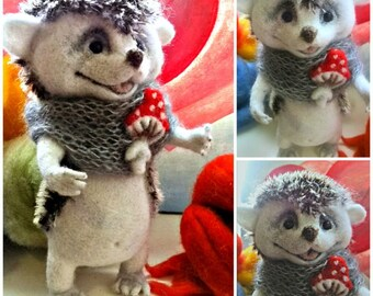 Hedgehog | Needle Felted  animal toys to order | Stock. price reduced