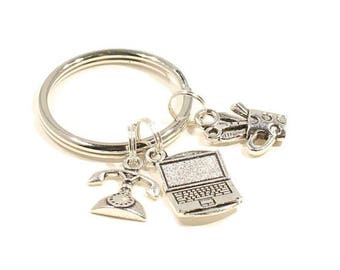 Admin keychain  Secretary Keychain  Administrative Assistant Keyring  Office Worker Keychain  Gift For Coworker  Bank Teller Gift  Teacher