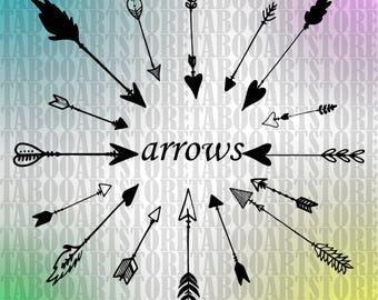 SVG Arrows svg, Arrows  clipart, Arrows eps, Arrows  silhouette, Arrows clipart, Arrows vector files, Arrows silhoette