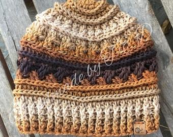 Ladies crochet ridges and Celtic beanie