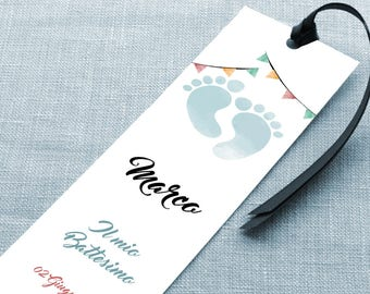 Placeholder baptism. Bookmark baptism. Small gifts for baptism. Tickets birth. Customizable bookmark christening or birth.