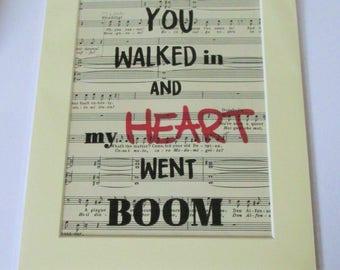 Hamilton Lyric Print | Helpless Song Lyrics | Music Print | Lin Manuel Miranda Lyrics