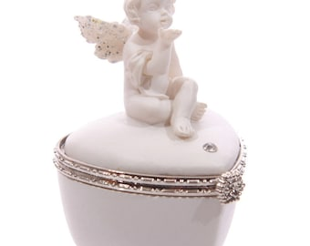 Angel Heart Shaped Pillbox