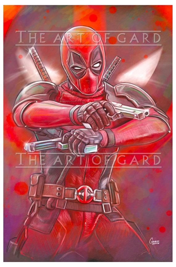 Deadpool (Gunplay) 11X17 High Quality Art Print