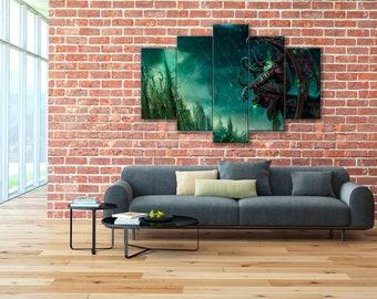 Illidan canvas, WoW, World of Warcraft canvas, World of Warcraft, Illidan Stormrage, Illidan, Demon Hunter, WoW canvas, Illidan print