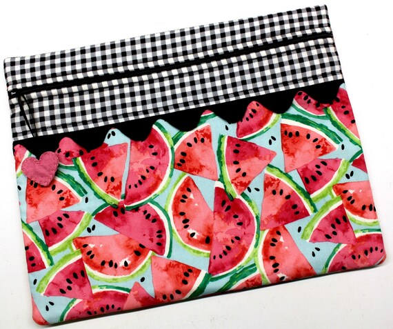 Summertime Watermelons Cross Stitch Embroidery Project Bag