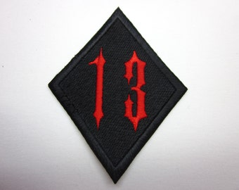 13 biker patch iron on patch