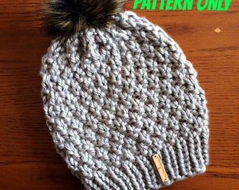 Slouchy Hat Pattern, Slouchy Beanie Knitting Pattern, Mommy and Me Pattern, Easy Knit Hat Pattern, Riverlands Slouchy Beanie