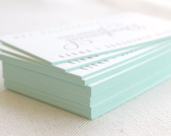 ADD-ON - Edge Painting for Stationery, Business Cards, Save the Date, Birth Announcements, Baptisms, Pool, blue, green, mint