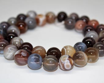 "Botswana Agate Gemstone Round Loose beads 6/8/10mm 15.5"" per Strand"
