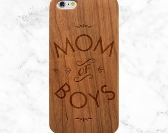 Gifts for Mom, Mom of Boys, iPhone X Case, 7 Plus, 8 Plus, Galaxy S9, S8 Plus, S7 Edge, S6 Edge, Note 8, Mom Life, Mothers Day Gift