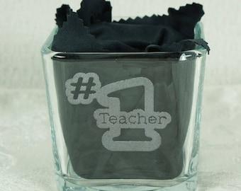 Teacher Thank You Gift, Best Teacher Gift, Teacher Appreciation Gift, Personalized Teacher Gift, Personalized Candy Dish, Pen Holder