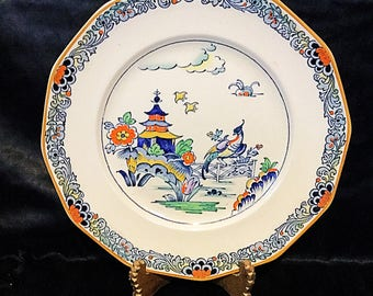 A great vintage pottery plate by booths pottery